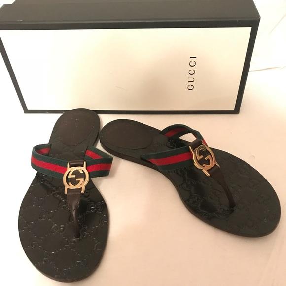13e44ea921ae Gucci Shoes - Gucci GG logo Sandal size 37 1 2